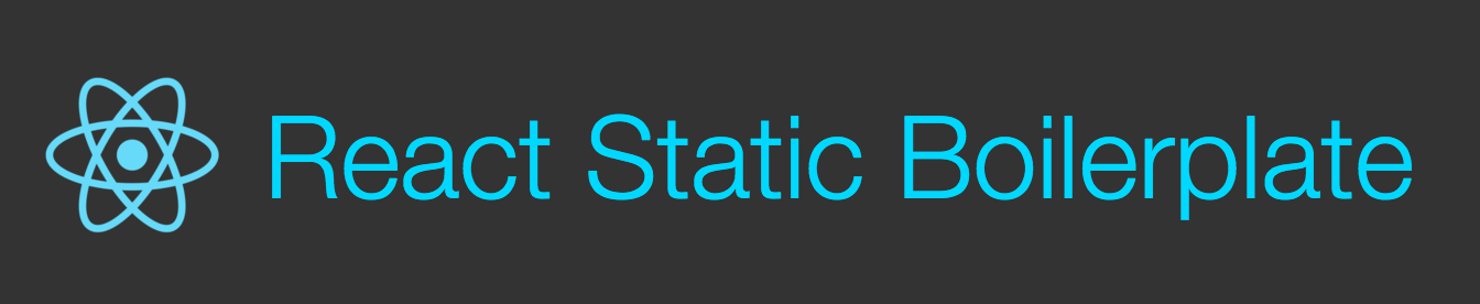 React Static Boilerplate