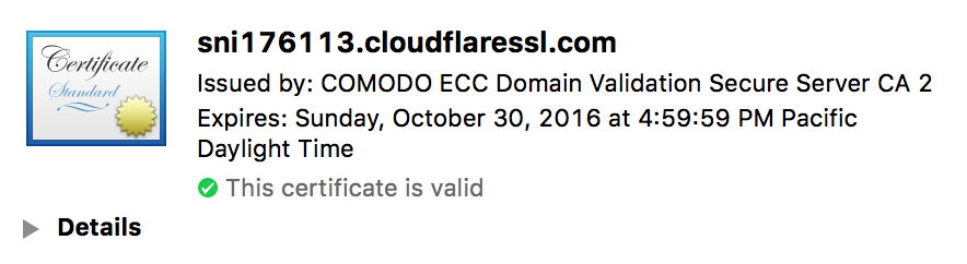 CloudFlare Free Cert