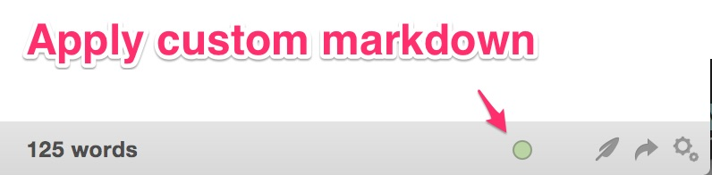 Custom processor button in Marked